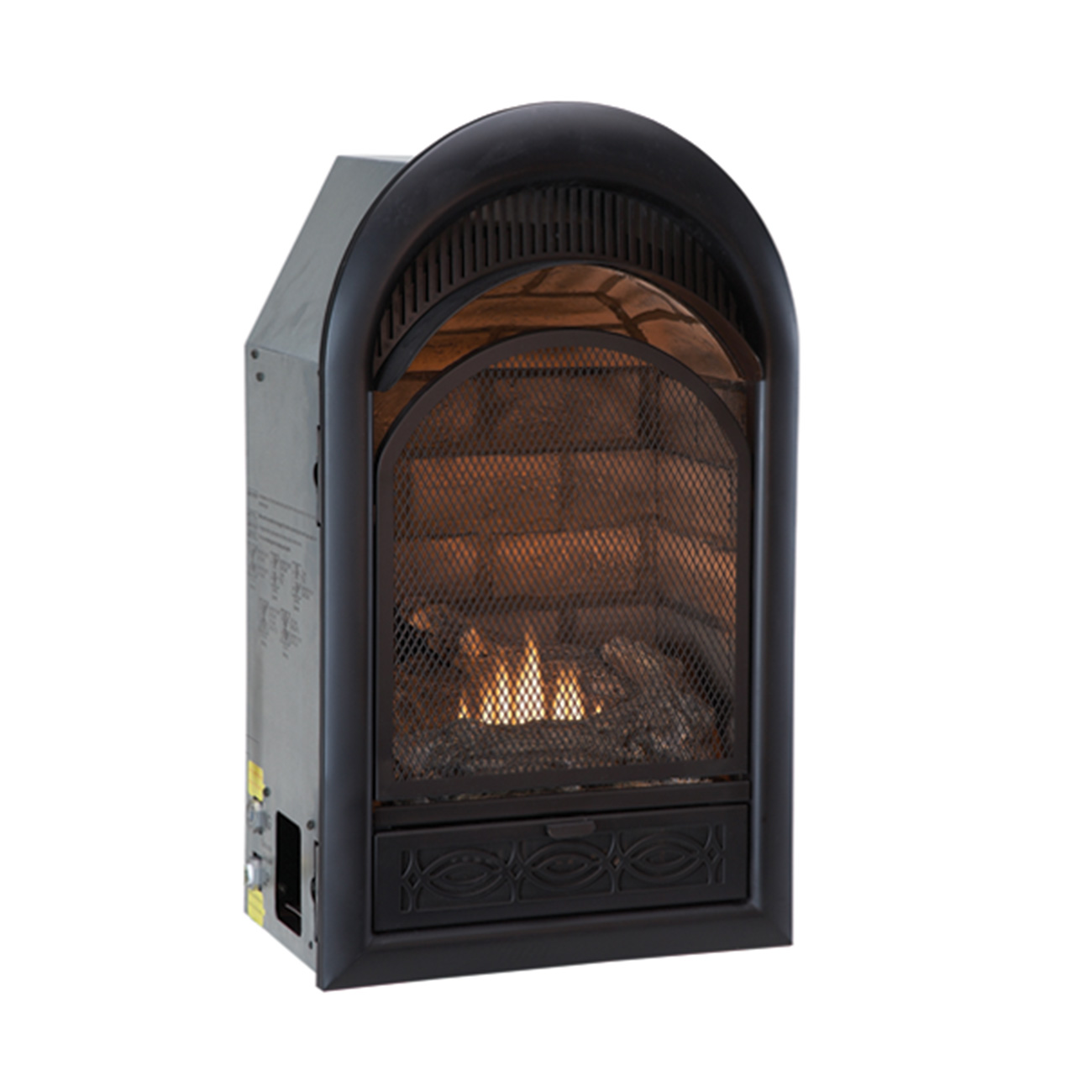 fuel btu brick dual ventless t product garden vent duluth forge free shipping overstock liner home insert fireplace stat model today