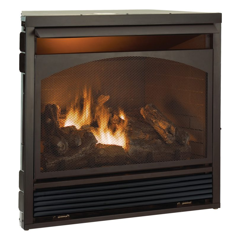 Forced Air Fireplace Insert Procom 46 81 In Vent Free Mantel Fireplace In Heritage