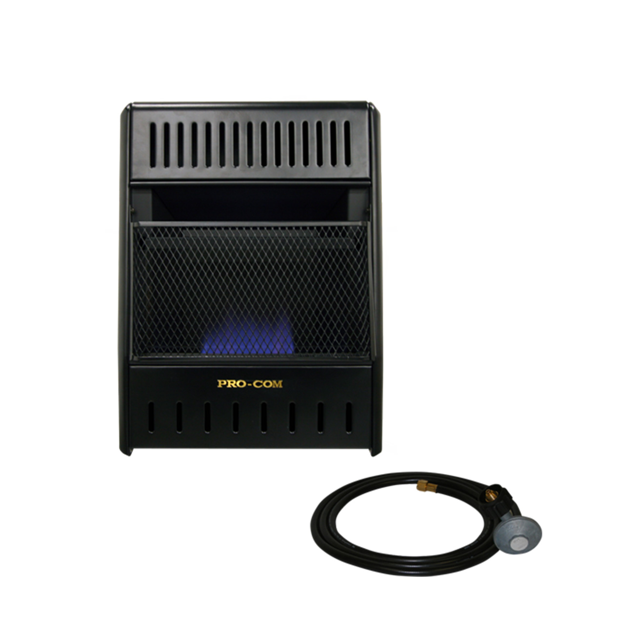 blue flame icehouse heater liquid propane with hose and regulator