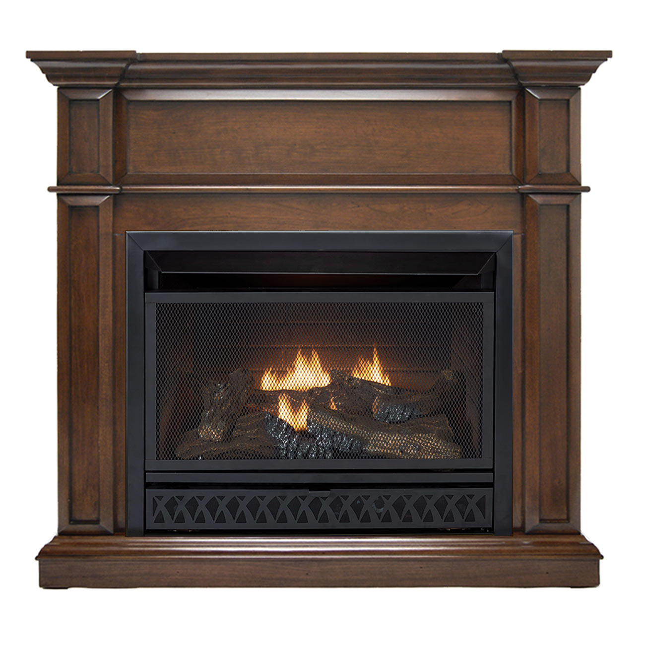 Forced Air Propane Heater >> HearthSense Ventless Fireplace System with Dual Fuel ...