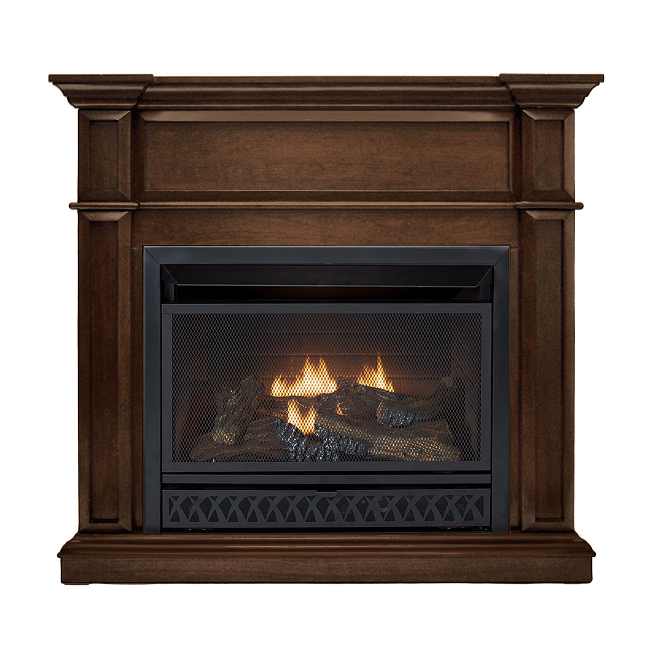 Hearthsense Ventless Fireplace System With Dual Fuel