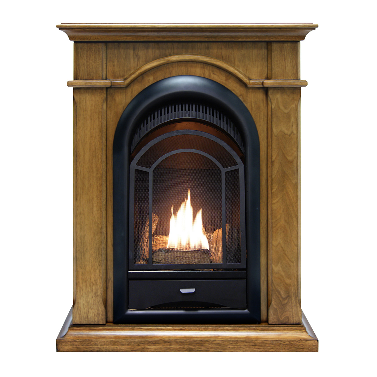 Ventless Fireplace System Corner Combo Dual Fuel In Toasted Almond Finish U2013  15,000 BTU