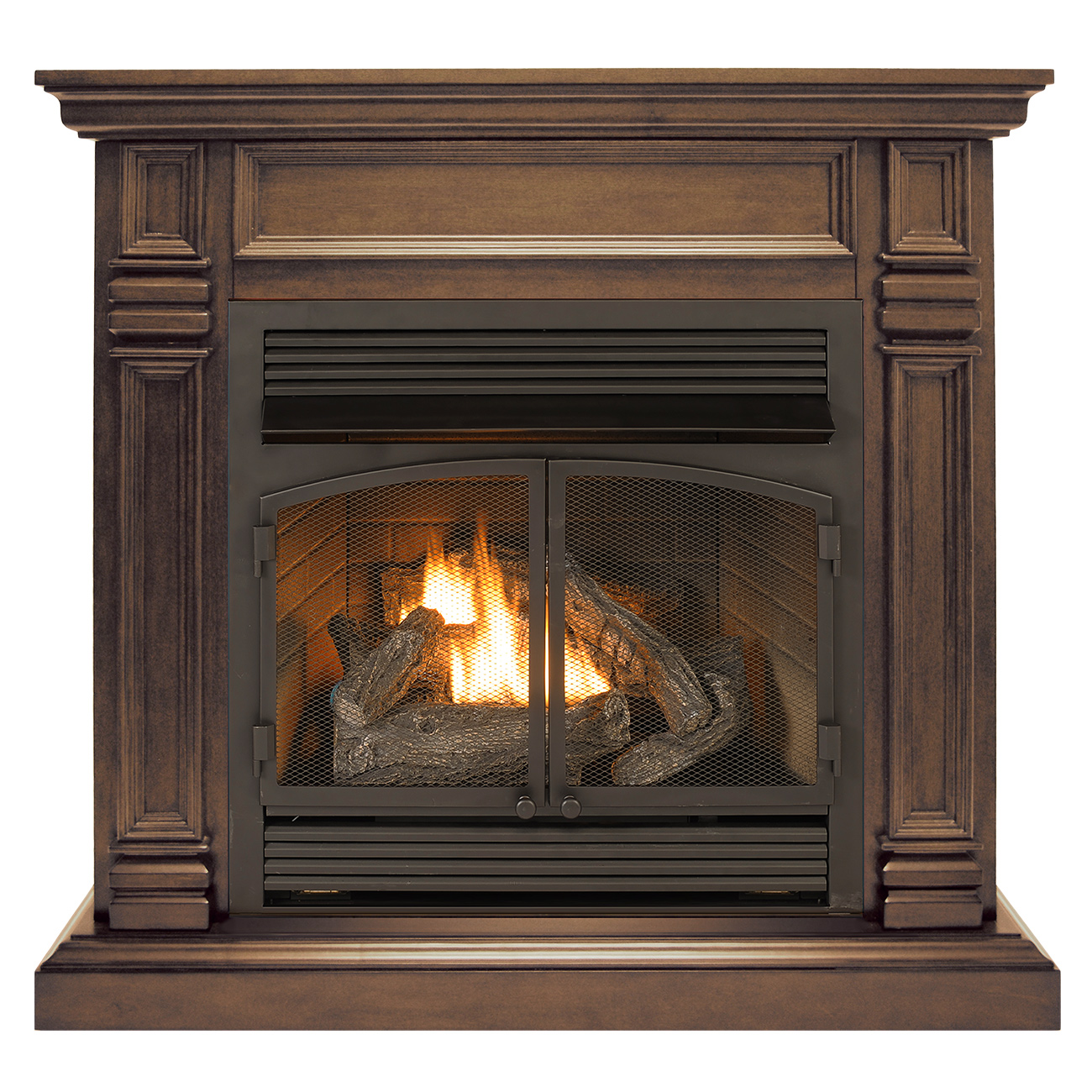 Ventless Fireplace: Ventless Fireplace System Dual Fuel Technology Chocolate