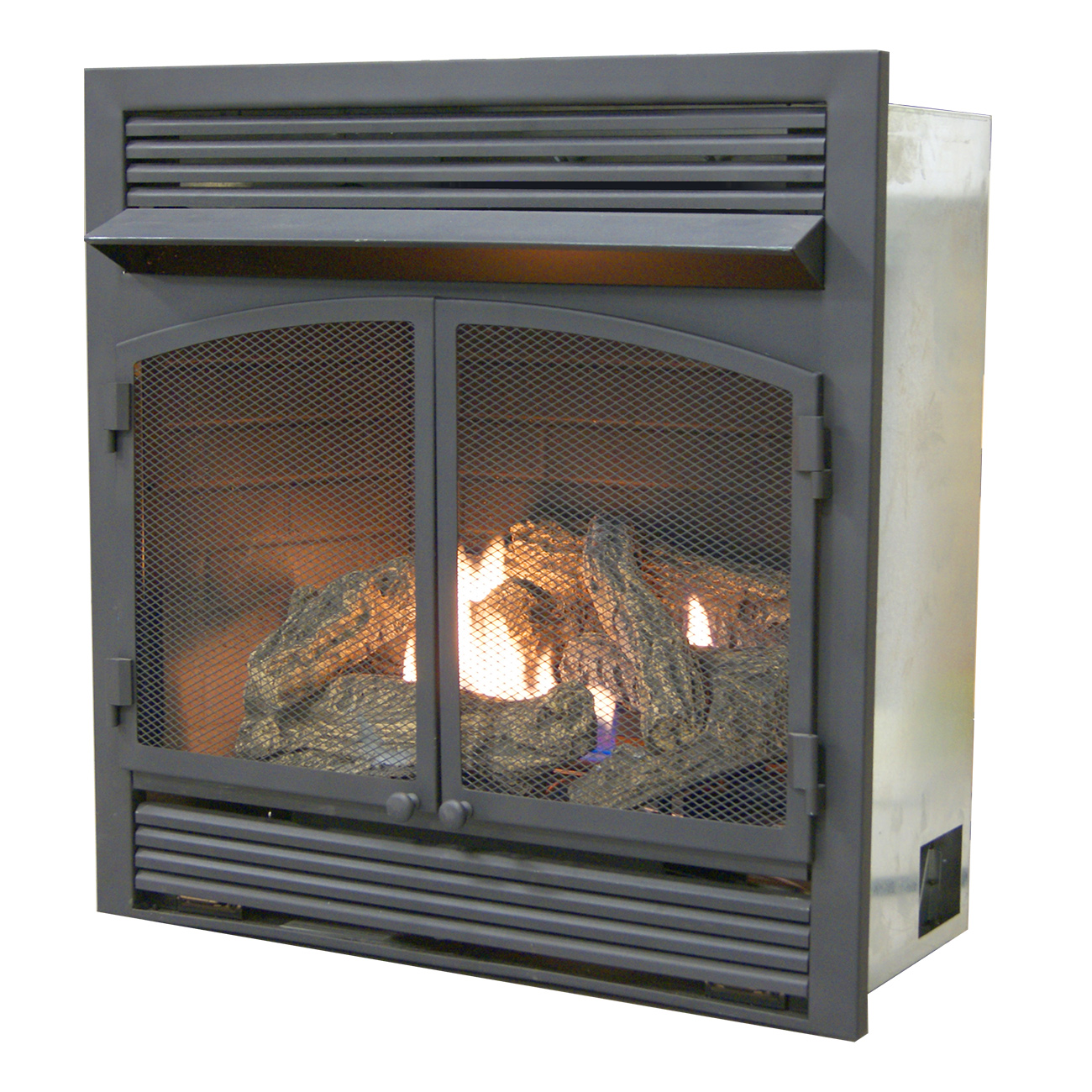 Dual Fireplace Insert Shop Procom 35 In W 32 000 Btu Black