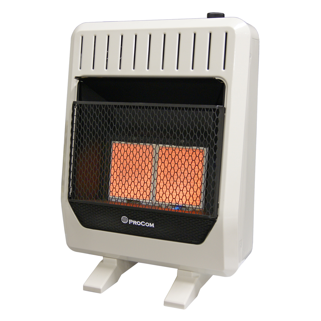 Ventless Dual Fuel Wall Heater Manual Thermostat Control