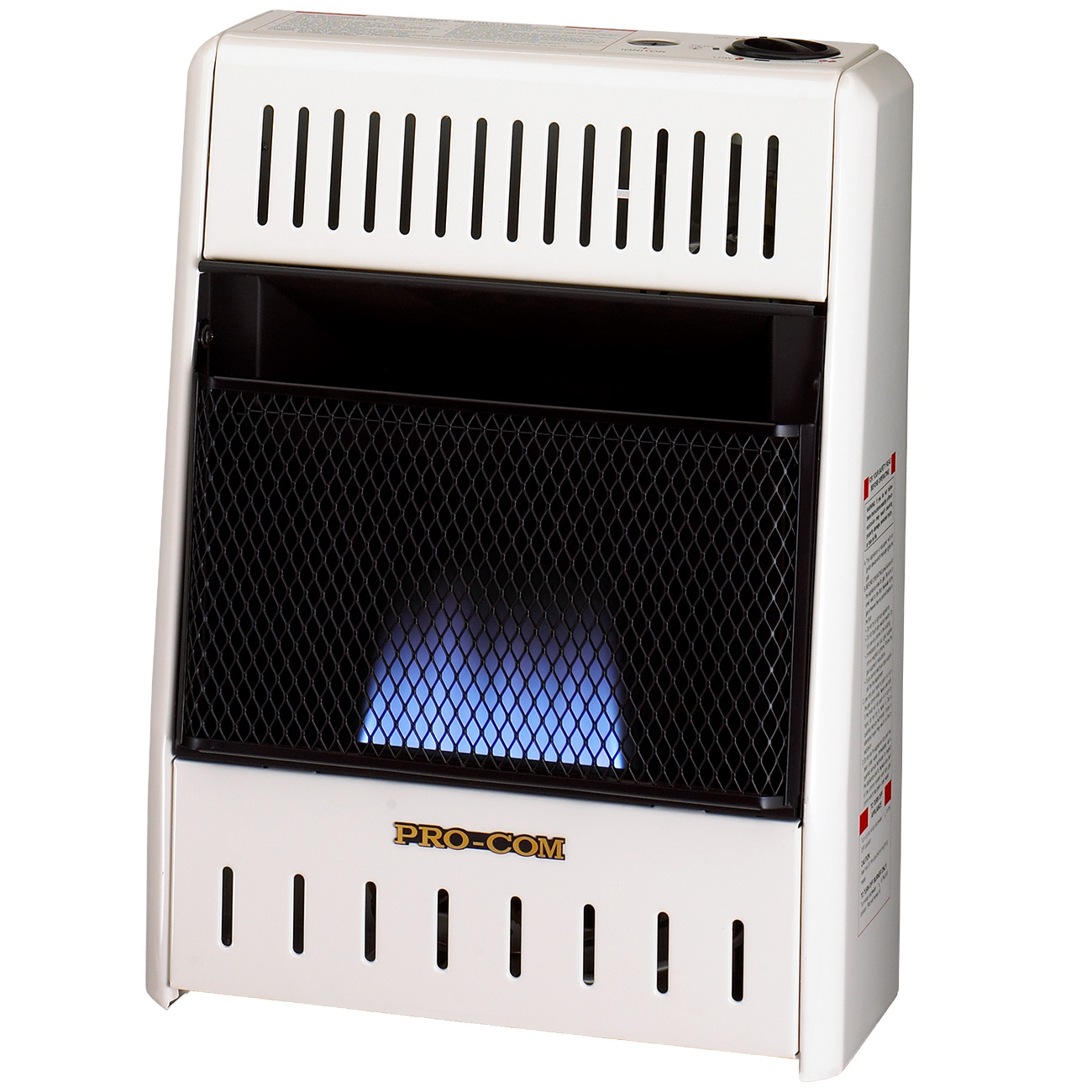 Ventless blue flame propane gas wall heater 10 000 btu for Best propane heating systems