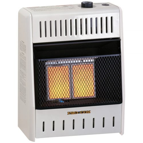Ventless Two Plaque Propane Gas Wall Heater 10 000 Btu
