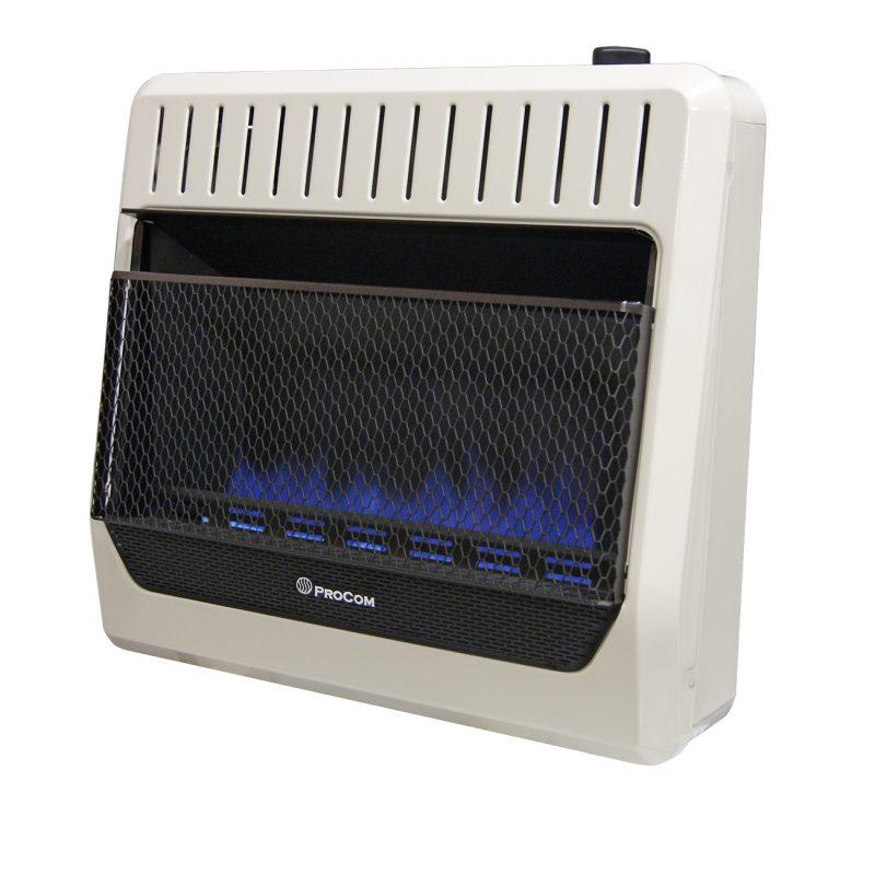 Ventless Natural Gas Blue Flame Thermostat Control Wall