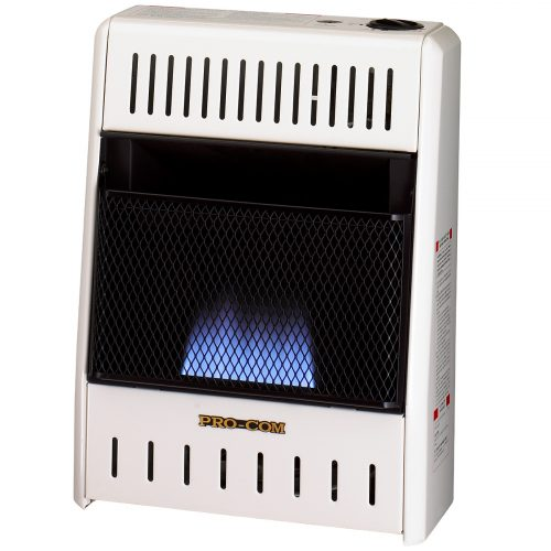Ventless blue flame manual natural gas wall heater for Natural gas heating options