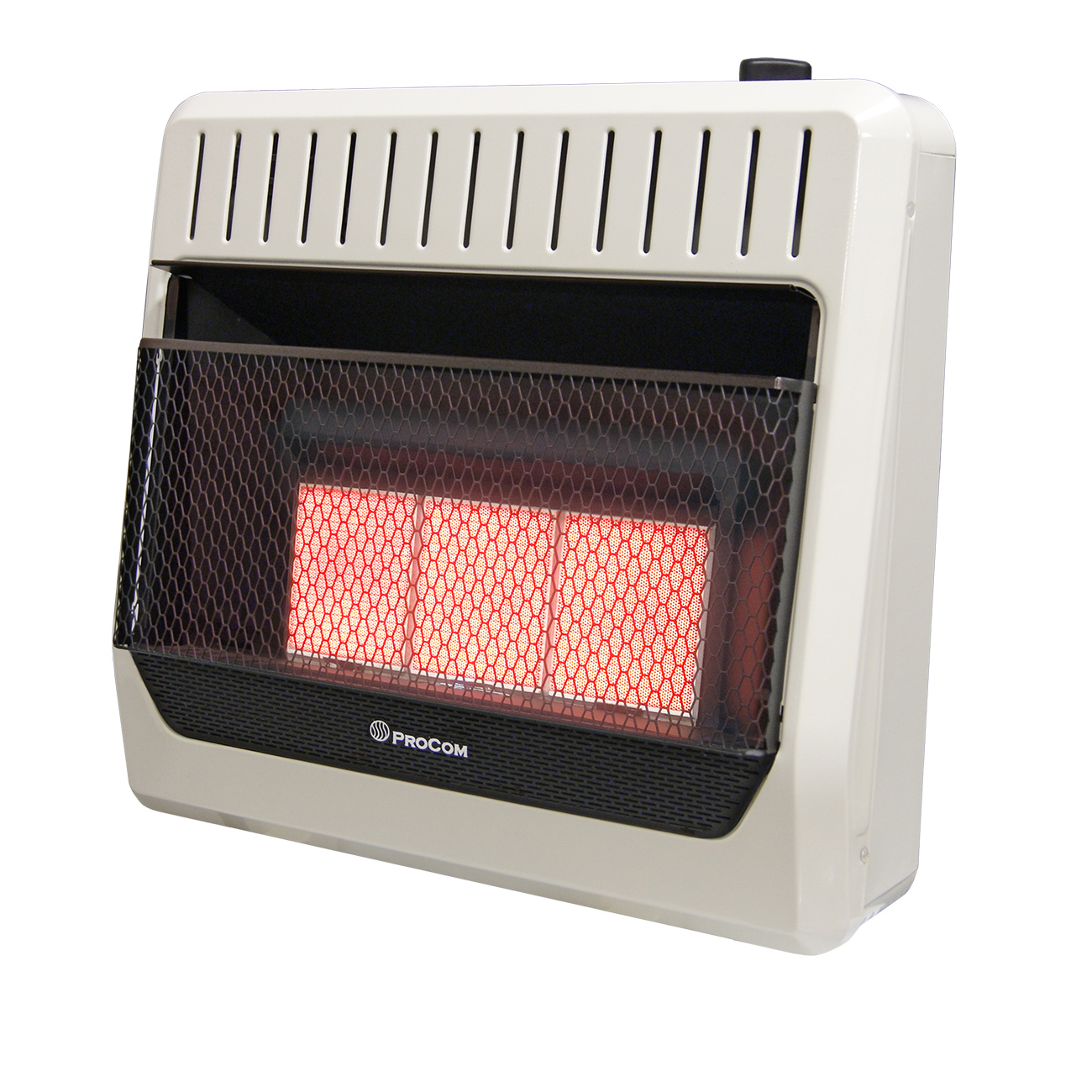 Ventless natural gas wall heater thermostat control for Best propane heating systems