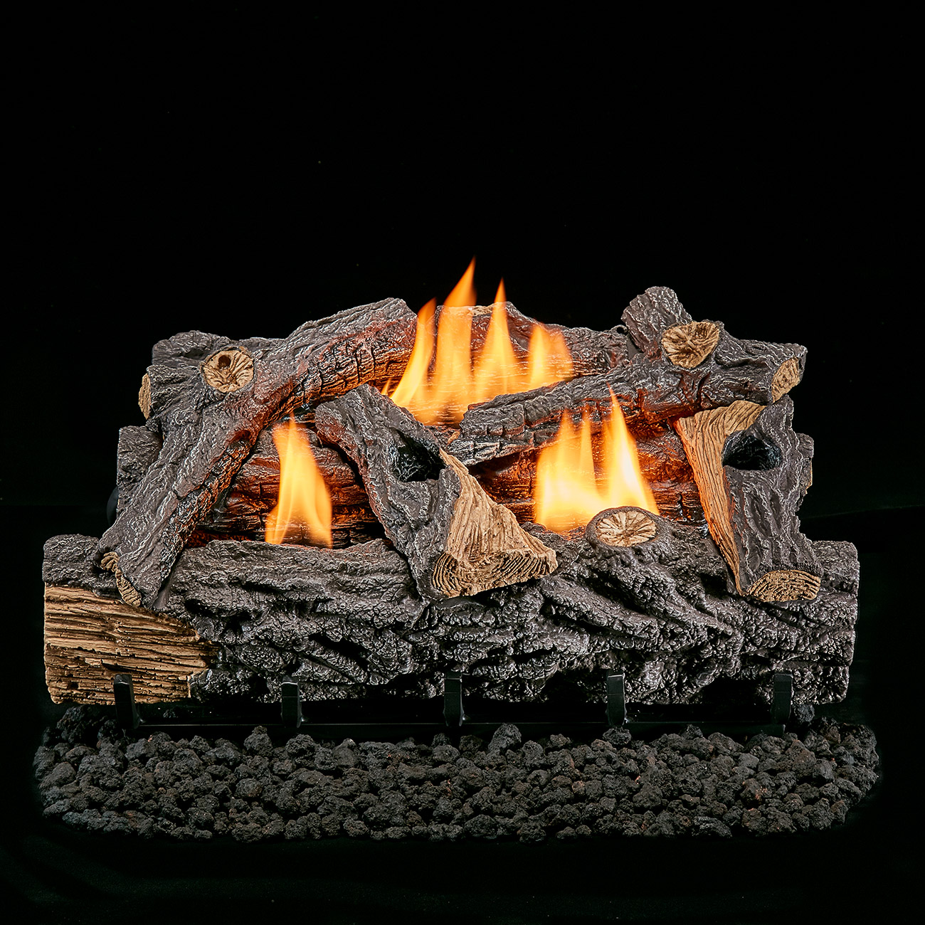 Lost River 24Inch Gas Log Set Traditional