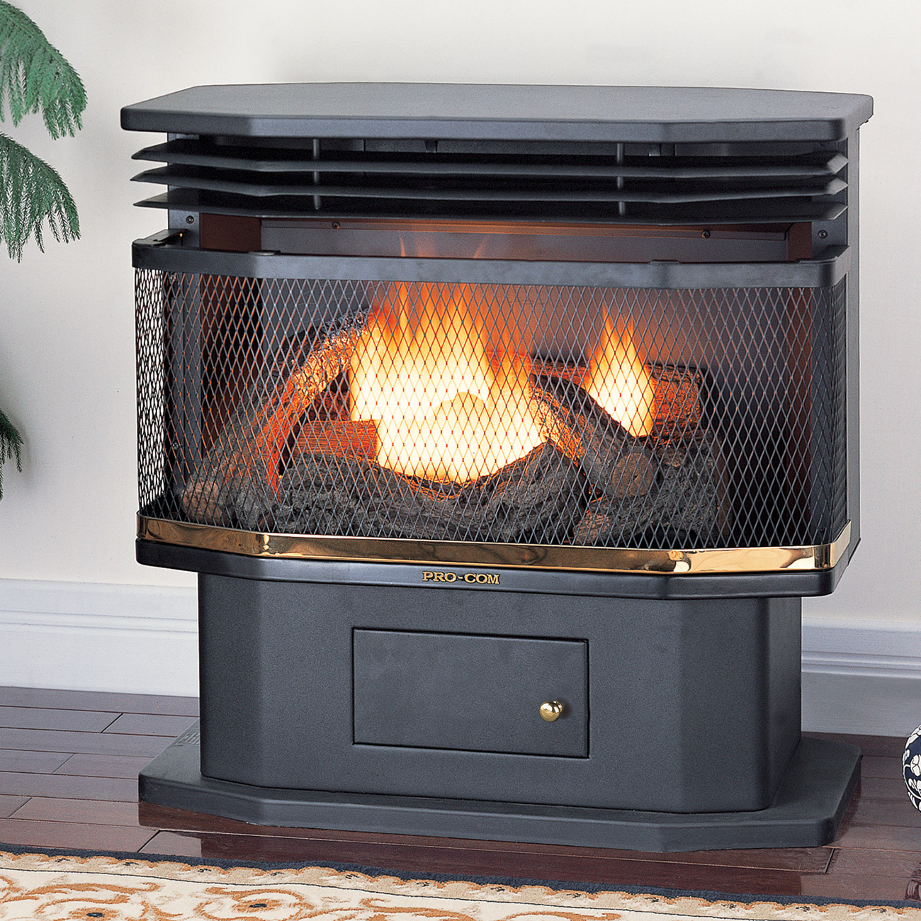 ventless pedestal gas stove model sn400tyla series procom heating