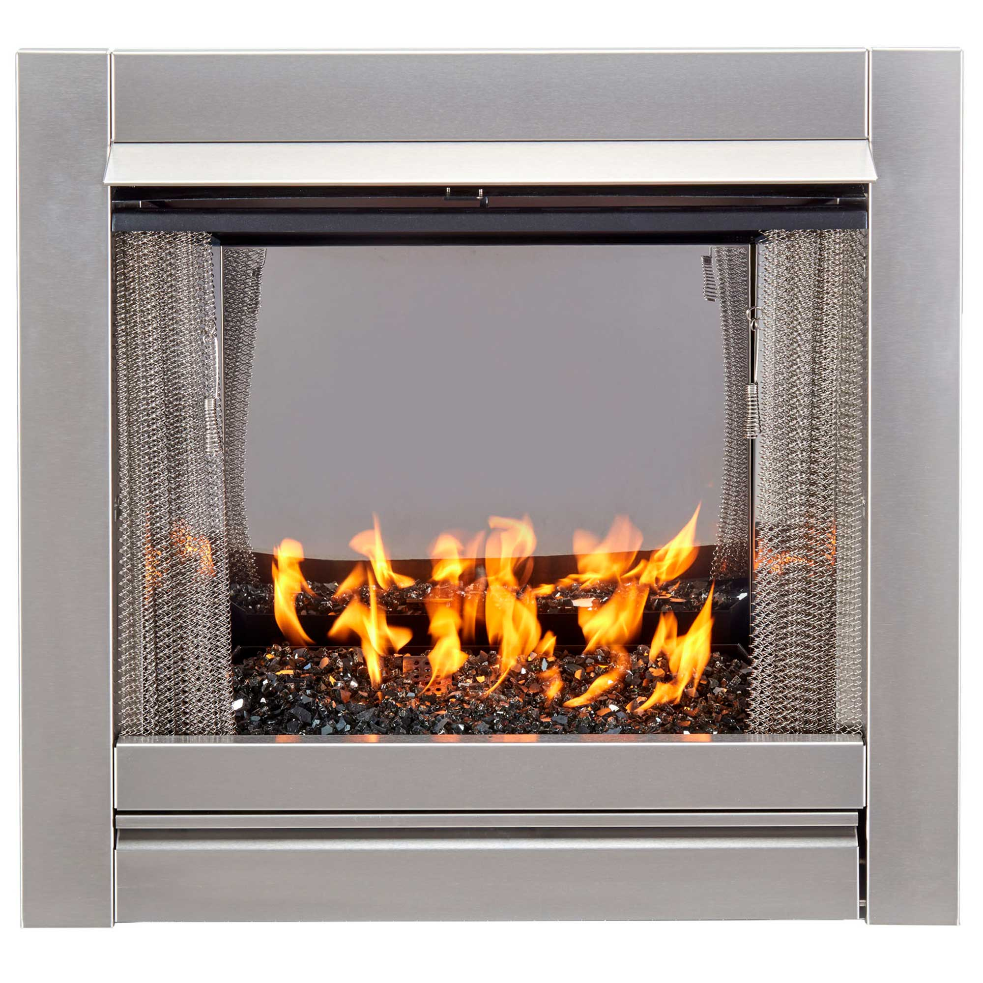 Duluth Forge Vent Free Stainless Outdoor Gas Fireplace Insert With